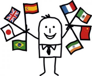 0Title page man with flags